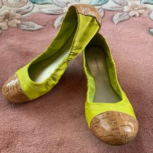 BCBG Generation Yellow Ballet Flats Size 7